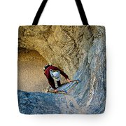 Down The Ladder In Big Painted Canyon Trail In Mecca Hills-ca  Tote Bag
