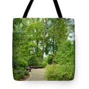 Down The Path To The Bench Tote Bag