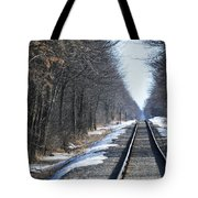 Down The Rails Tote Bag