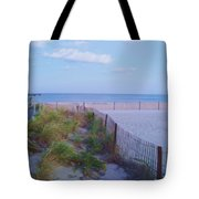Down The Shore At Belmar Nj Tote Bag
