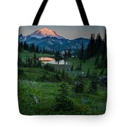 Down The Valley To Rainier Tote Bag