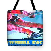 Downhill Racer Tote Bag by Michael Moore