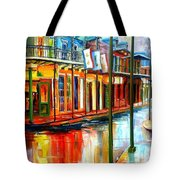 Downpour On Bourbon Street Tote Bag