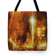 Downtown 6th St Seattle In Dec Tote Bag