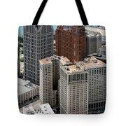 Downtown Aerial Of Detroit Michigan Tote Bag