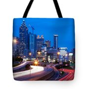 Downtown Atlanta At Dusk Tote Bag