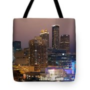 Downtown Atlanta Skyline At Dusk Tote Bag