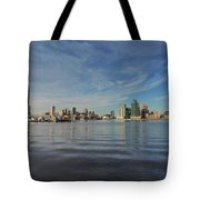 Downtown Baltimore And Harbor East Skylines Tote Bag