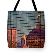 Downtown Boston Reflection Tote Bag