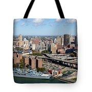 Downtown Buffalo Skyline Tote Bag