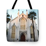 Downtown Charleston Church Tote Bag