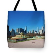 Downtown Chicago With Buckingham Fountain 2 Tote Bag