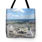 Downtown Cincinnati Form The Top Of Karew Tower 5 Tote Bag