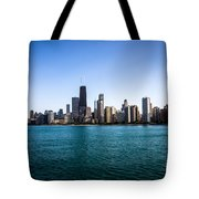Downtown City Buildings In The Chicago Skyline Tote Bag