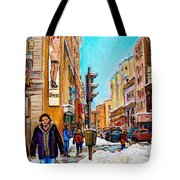 Downtown City Life Tote Bag