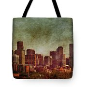 Downtown Denver Antiqued Postcard Tote Bag