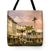 Downtown Hilo Sunday Morning Tote Bag