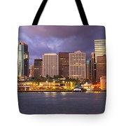 Downtown Honolulu Hawaii Dusk Skyline Tote Bag