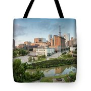 Downtown Houston From Uh-d. September Tote Bag by Silvio Ligutti