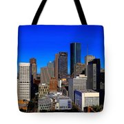 Downtown Houston Painted Tote Bag