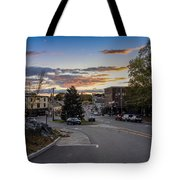 Downtown Ipswich Sunset Tote Bag