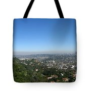 Downtown La From Griffith Observatory Tote Bag