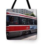 Downtown Light Rail Toronto Ontario Tote Bag