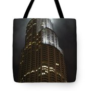 Downtown Los Angeles In The Fog Tote Bag