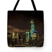 Downtown Manhattan At Night Tote Bag