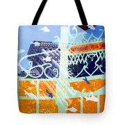 Downtown Manhattan Fishes Tote Bag