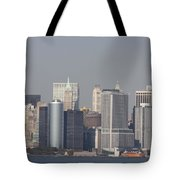 Downtown Manhattan Shot From The Staten Island Ferry Tote Bag
