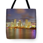 Downtown Miami And Aaa Tote Bag