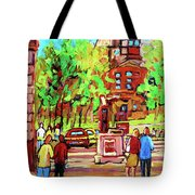 Downtown Montreal Mcgill University Streetscenes Tote Bag