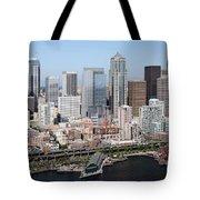 Downtown Seattle Washington City Skyline Tote Bag
