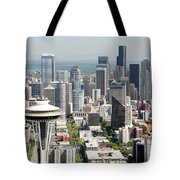 Downtown Skyline Of Seattle Tote Bag