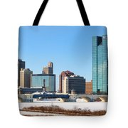 Downtown Toledo Riverfront 7132 Tote Bag