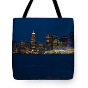 Downtown Vancouver At Night  Tote Bag