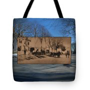 Dr. Isaac B. Cowen At The Little Compton Commons In Rhode Island Tote Bag