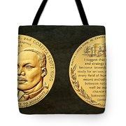Dr Martin Luther King Jr And Coretta Scott King Bronze Medal Art Tote Bag