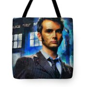 Dr Who Number 10  Tote Bag