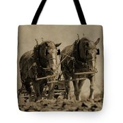 Draft Horses Tote Bag