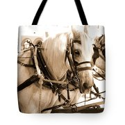 Draft Horses Enjoy A Day In Old Sacramento Tote Bag