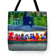 Dragon Boat Challenges Submarine  Tote Bag