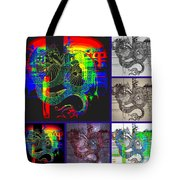 Dragon Collage Tote Bag