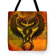 Dragon Duel Series 3 Tote Bag