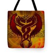 Dragon Duel Series 5 Tote Bag