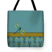 Dragon Fly Nouveau Tote Bag by Jenny Armitage