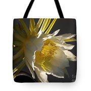 Dragon Fruit Blossom In Profile Tote Bag
