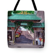 Dragon Gate Tote Bag
