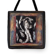 Dragon Lion Repousse And Chasing By Alfredo Garcia Art - Original Mixed Media Modern Abstract Painti Tote Bag